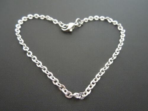 "3mm Sterling Silver Bracelet Or Ankle Chain Anklet ~ Bird Charm 7/"" 8/"" 9/"" 10/"" 11/"""