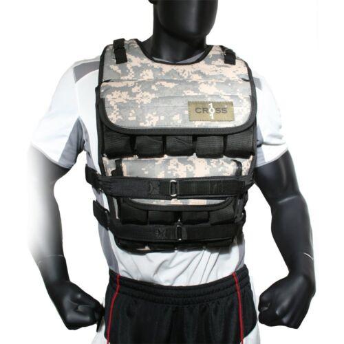 Cross 101 camouflage réglable pondéré poids Débardeur Entraînement Fitness-Neuf