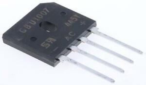 2 x Taiwan Semiconductor GBU606 D2, Bridge Rectifier, 6A 800V, 4-Pin GBU