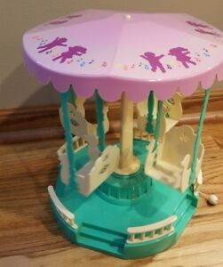 Cabbage-Patch-Kids-Musical-Merry-go-round-Vintage-1984-Coleco-works-original-box