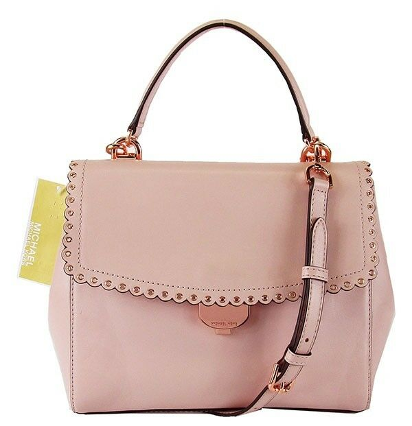 824107cbff3a Michael Kors Ava Soft Pink Leather Scalloped Crossbody Bag for sale online  | eBay