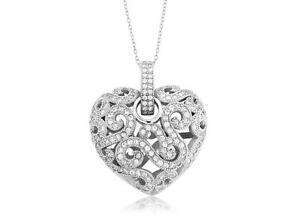 Platinum-Sterling-Silver-White-Sapphire-Pave-Vintage-Design-Pave-Heart-Pendant