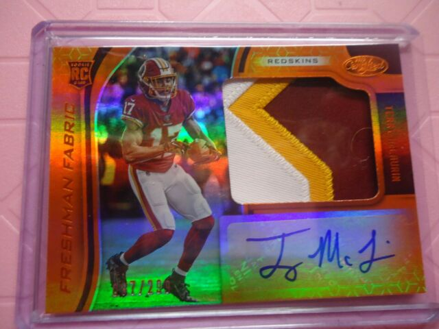 2019 CERTIFIED ROOKIE AUTO 3 COLOR PATCH TERRY MCLAURIN WASHINGTON REDSKINS /299