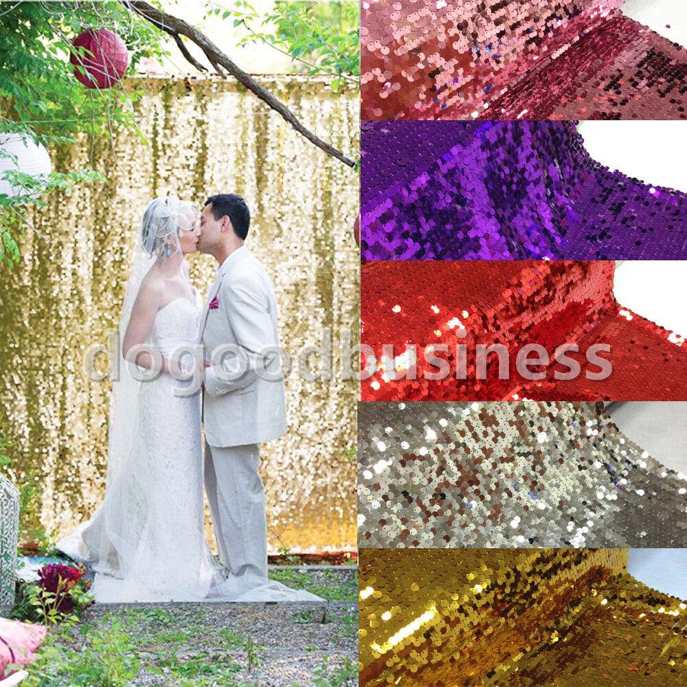 1-9.1m Sequin tissu Photographie Toile De Fond Rideau 1.5 m de large table de mariage Couvre