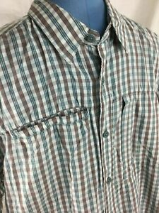 2feeaf81d Details about The North Face Short Sleeve Plaid Mens XL Fishing Hiking Shirt