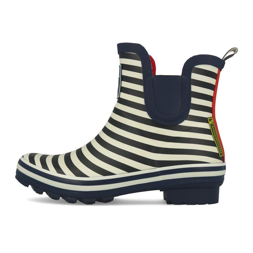 Evercreatures Bristol Meadow botín botaies Navy Stripe botas botas de goma azul
