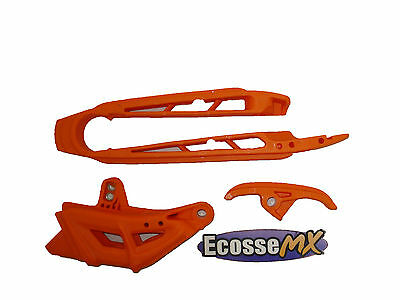 KTM EXC125 EXC200 EXC250 EXC300 2008-2010 UFO Orange Chain Guide Kit 4005