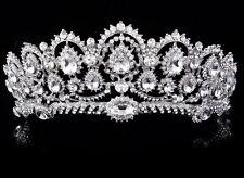 LUSSO Regina DIADEMA SPOSA CORONA cristallo Rhinestone cerchietto sposa headpieces