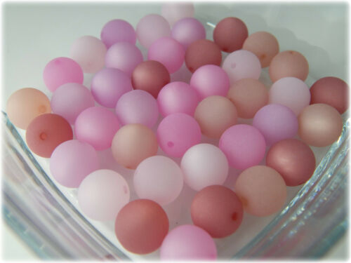 10//20//30 pieza Polaris perlas 12mm grande rosa Violeta Marrón Rojo Verde pastel Mix 5 colores