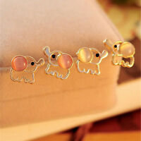 1 Pair Women Fashion Lovely Cute Baby Elephant Opal Stud Earrings Jewellery FG