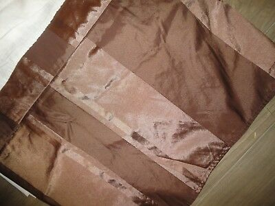 NOBLE EXCELLENCE BROWN SATIN MULTI STRIPE QUEEN KING BEDSKIRT 15""