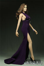 """1:6 Female Figure Clothes Side Slits Tail Dress F12"""" Phicen Large breast Figure"""