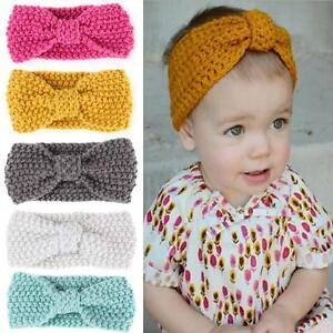 Bebe-Fille-Bandeau-Papillon-N-ud-Crochet-Enfant-Serre-tete-Cheveux-Turban-Mignon