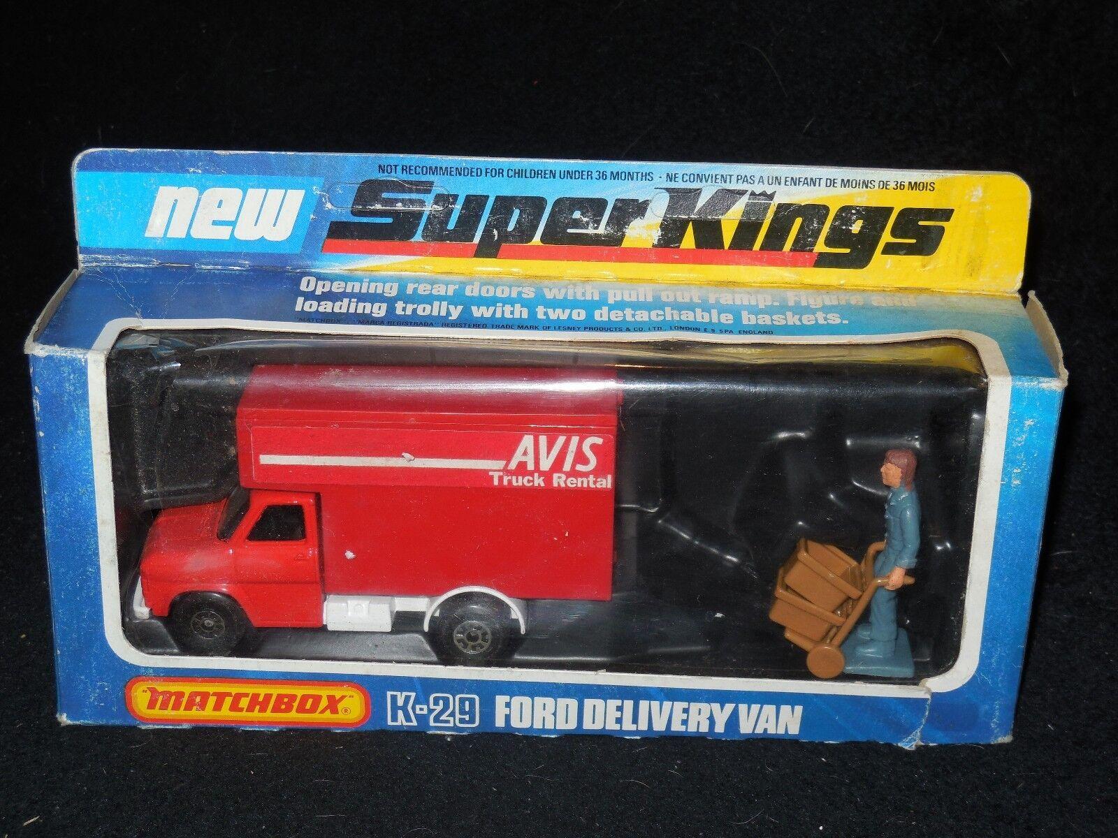 Matchbox Super King K-29 Delivery Van Van Van Avis NIB c1b1a4
