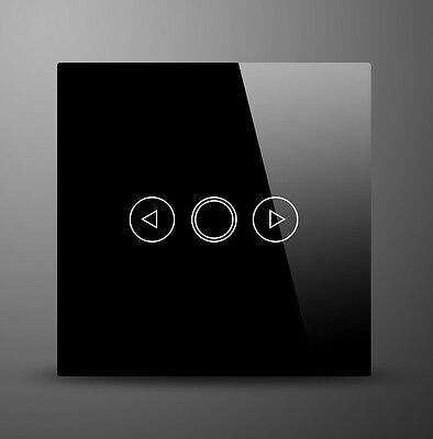 Glass Switch Black 1 Gang Glass Touch On/Off Dimmer Light Switch MG-UKD34 BK