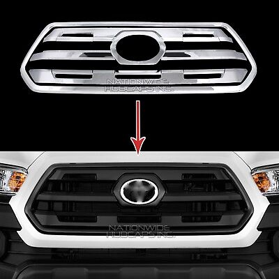 fits 2014-17 Toyota Tundra CHROME Snap On Grille Overlay Grill Bar Covers Insert