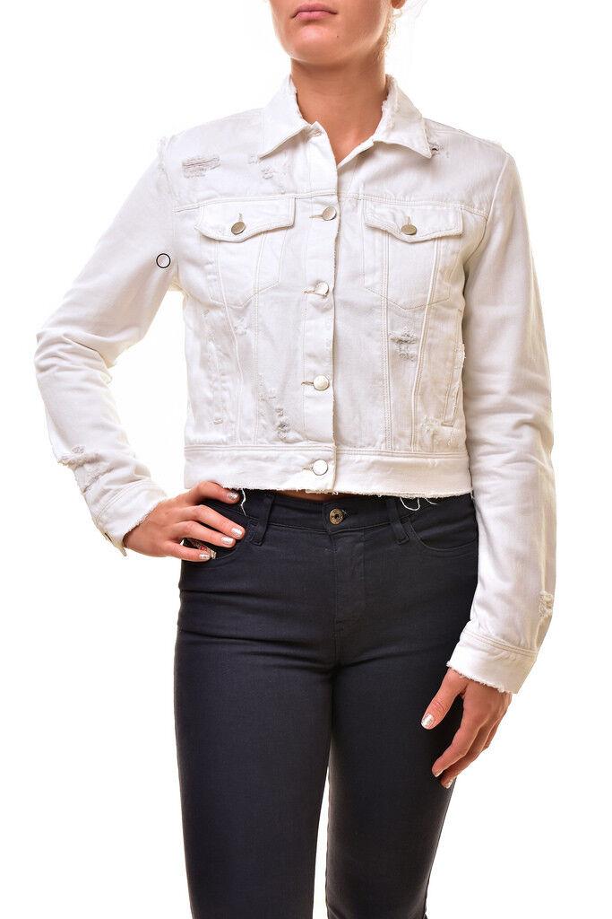 J  marca para mujer Harlow JB000512 tela vaquera envejecida Chaqueta blancoo 26  nueva gama alta exclusiva