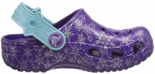 CROCS 202356-518 CLASSIC FROZEN CLOG Inf/'s M Neon//Purple Croslite Slip-On Clog