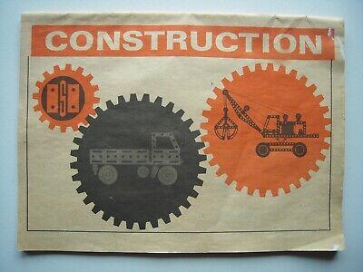 """Katalog Vom Metallbaukasten """"construction"""", Spielzeug Aus Der Ddr / 1959"""