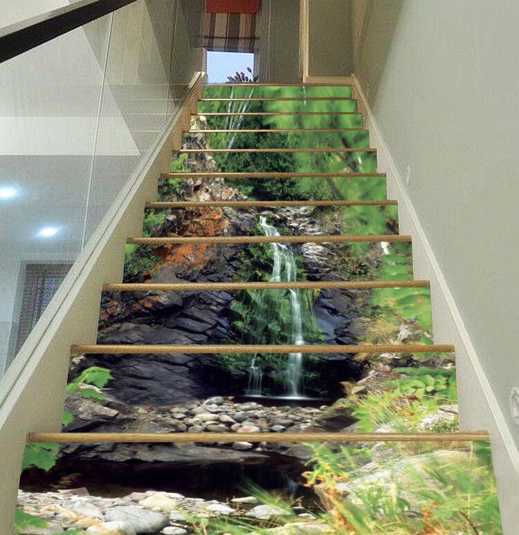 3D Schlank Fluss 23 Stair Risers Dekoration Fototapete Vinyl Aufkleber Tapete DE