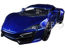 LYKAN HYPERSPORT BLUE 1/24 DIECAST MODEL CAR BY JADA 98076