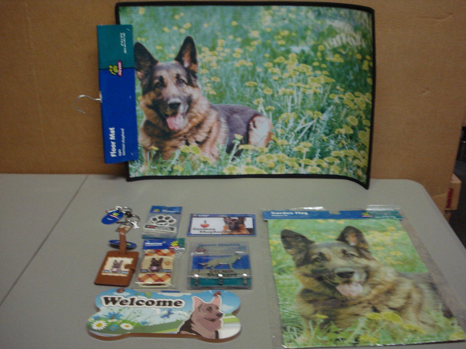 alla moda New German German German Shepherd Dog 9 Piece Lot Floor Mat Car Magnet Wall Sign More  7  negozio outlet
