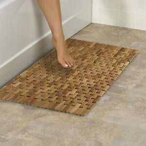 Conair Home Pollenex Solid Teak Roll-up Folding Shower Spa Mat Dpshmatr