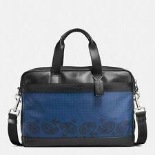 COACH *NWT* HAMILTON BAG IN PRINTED LEATHER, INDIGO/BLK BANDANA, MSRP$450 F56021
