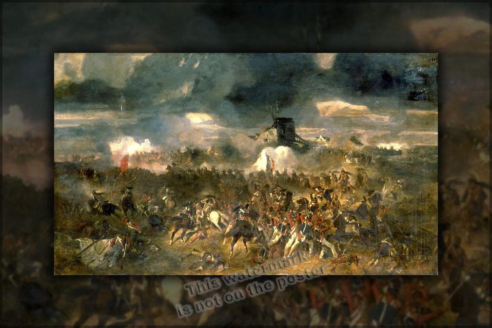 Plakat, Viele Größen; Schlacht Waterloo Clément-auguste ANDRIEUX'S 1852 The