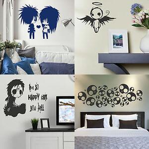 Emo Wall Stickers! Gothic Transfer Graphic Decal Decor Goth Stencil ...