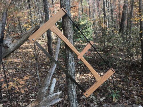"21""Hand Crafted Oak Folding Wood Buck Saw BAHCO Blade Bushcraft Great Garden Saw"