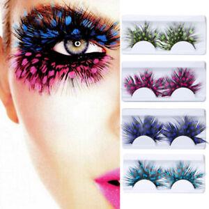 59a6ddee0f2 2/5Pairs Women False Eyelashes Fancy Soft Long Feather Eye Lashes ...