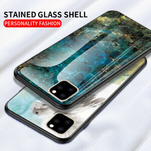 For-iPhone-11-Pro-XS-Max-3D-Marble-Pattern-Tempered-glass-Soft-TPU-Cover-Case