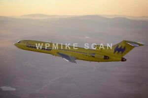 Large 8X12 air-to-air photo Hughes Airwest 727 N722RW. Excellent quality image