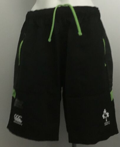IRELAND RUGBY WOVEN GYM SHORTS TAP SHOE BY CANTERBURY SIZE BOY/'S 14 YEARS NEW