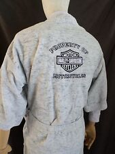 HARLEY DAVIDSON heather gray terry cloth bathrobe lounge robe ONE SIZE