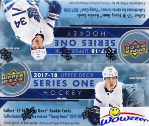 2017-18-UD-Series-1-Hockey-Factory-Sealed-24-Pack-Retail-Box-6-Young-Guns-Jersey