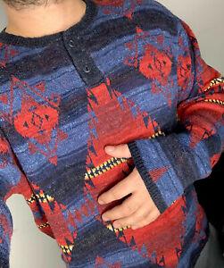 Ralph-Lauren-d-amp-s-Henley-Shirt-Pullover-Aztec-Southwestern-RRL-Polo-Country-Medium