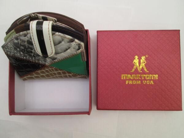 -authentique Portefeuille-porte-monnaie Marktomi U.s.a. Cuir Tbeg Vintage