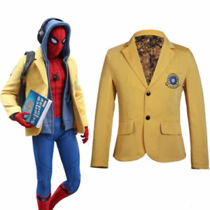 8193d3675 Image is loading Spider-Man-Homecoming-Cosplay-Jacket-Peter-Parker-Blazer-