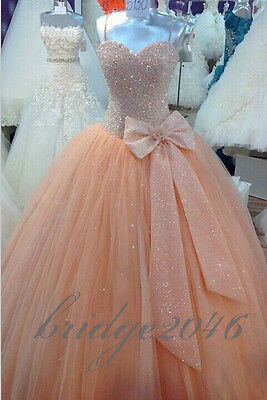 New Beaded Quinceanera Dresses Ball Gown Prom Formal Pageant Dress Wedding dress