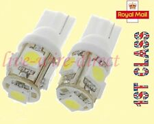2 x T10 5 SMD LED Bright Sidelights Interior light Bulbs W5W 501 194 White 12V
