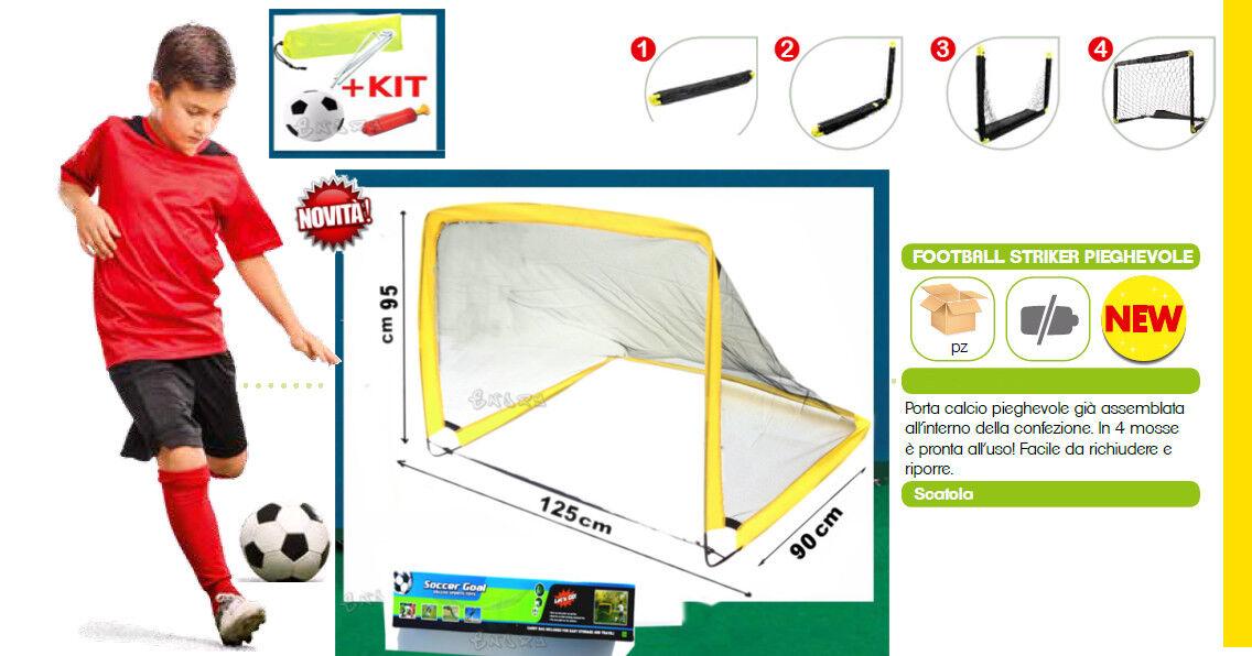 2 porte vom fußball für kinder + set ball pumpe pumpe pumpe streikposten dim.125 x 95 x 90cm 439578