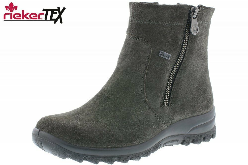 Rieker Rieker Rieker Tex Damen Stiefel Grau Schuhe Leder Z7161-45  faire Preise