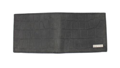 New RFID Blocking Embossed Crocodile Distressed Hunter Leather Wallet 1200 Black