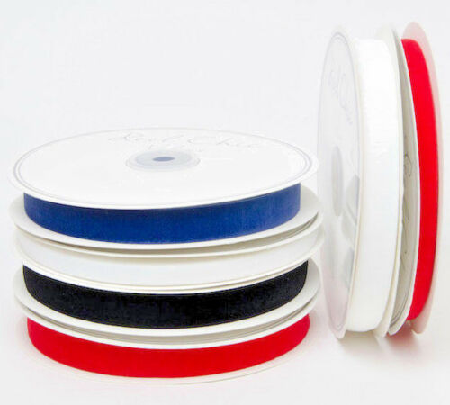 10m Reel 4 Colours Available 16mm Reel Chic Luxury Stretch Velvet Ribbon