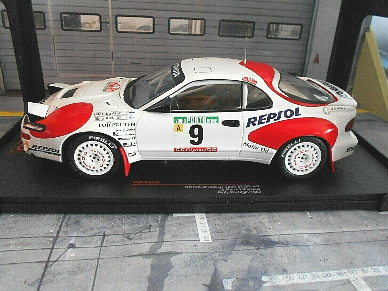 Toyota celica st185 Rallye Portugal 1992  9 Alen Kivimäki Repsol IXO NEUF 1 18