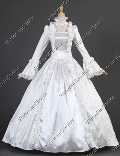 Victorian Costumes: Dresses, Saloon Girls, Southern Belle, Witch    White Renaissance Victorian Wedding Dress  Ghost Bride Halloween Costume 119 $145.00 AT vintagedancer.com