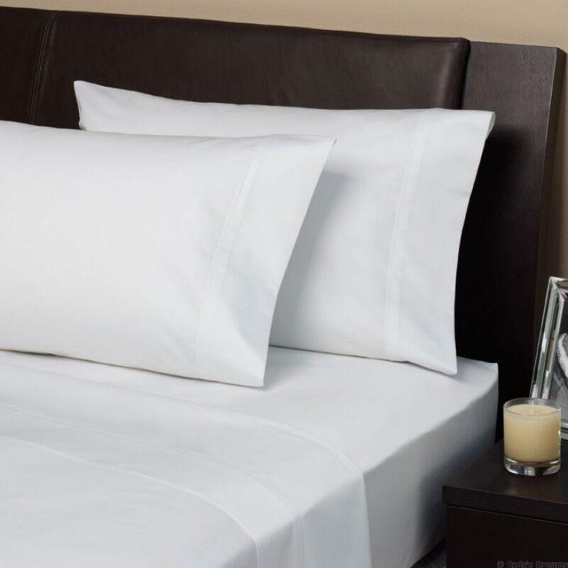 Super King Bed Größe Plain 800 Thread Egyptian Cotton 16'' Fitted Sheet Weiß
