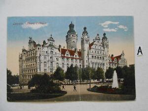 Humour Carte Postale Vue Carte Saxe. Leipzig Nouvelle Mairie-g Neues Rathaus Fr-fr Afficher Le Titre D'origine